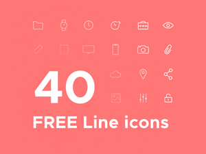 Free Sketch Icons: Flat Icons, Line Icons, Social Icons and Icon