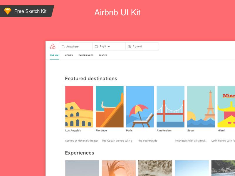 AirBnb UI Kit Freebie - Download Sketch Resource - Sketch Repo