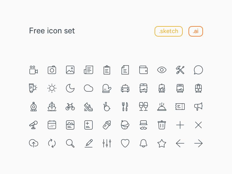 20x20 Line Icons Set Freebie - Download Sketch Resource - Sketch Repo