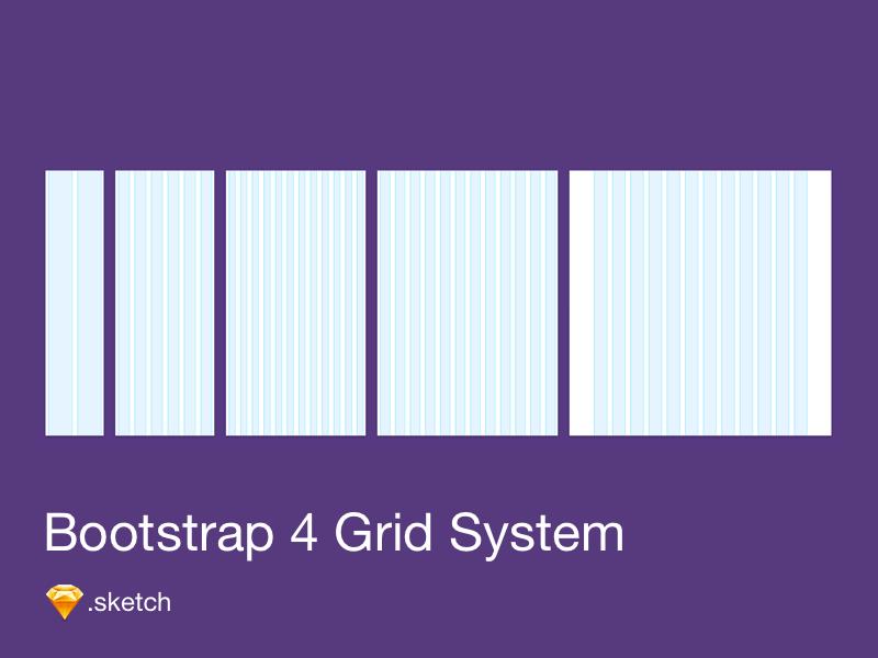 Bootstrap 4 Grid Freebie , Download Sketch Resource , Sketch