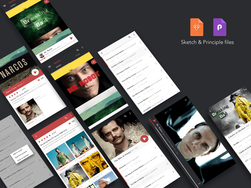 Redesign Netflix Series Android App Freebie - Download