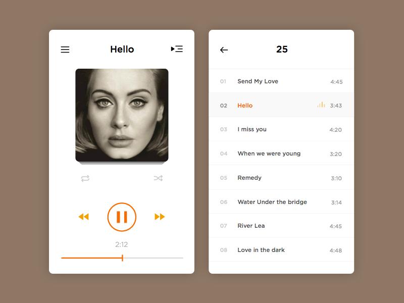 Music Player Freebie - Download Sketch Resource - Sketch Repo