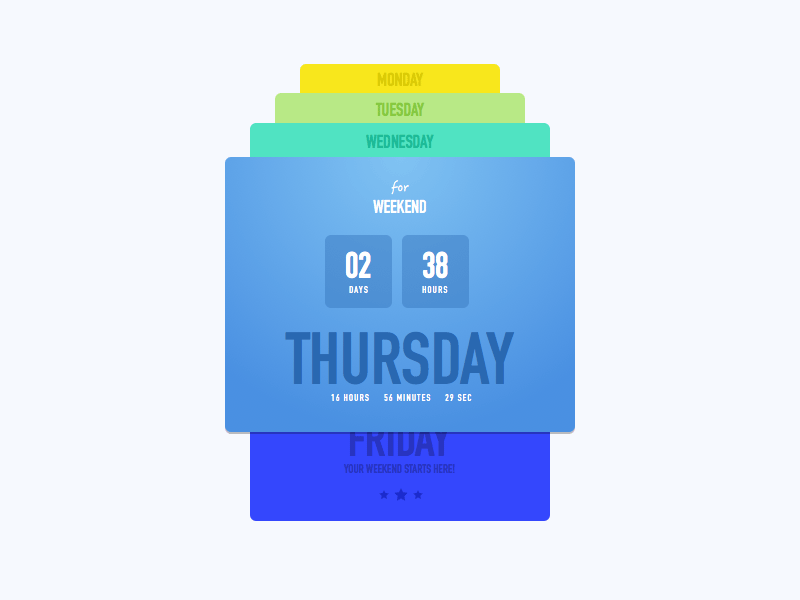 Countdown Timer Concept Freebie - Download Sketch Resource