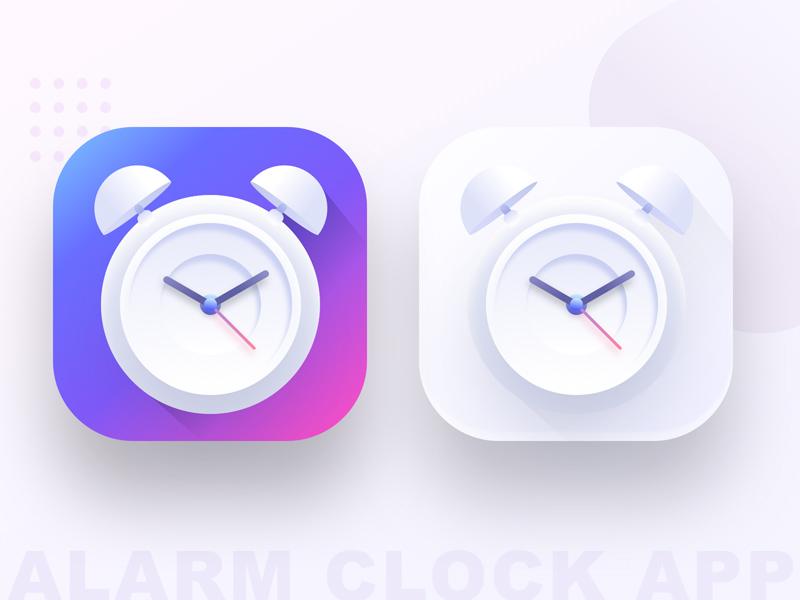 Alarm Clock App Icon Freebie - Download Sketch Resource