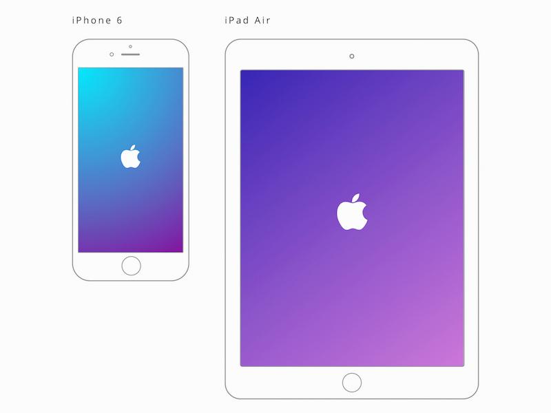 Apple Ipad Air And Iphone 6 Mockups Freebie Download Sketch