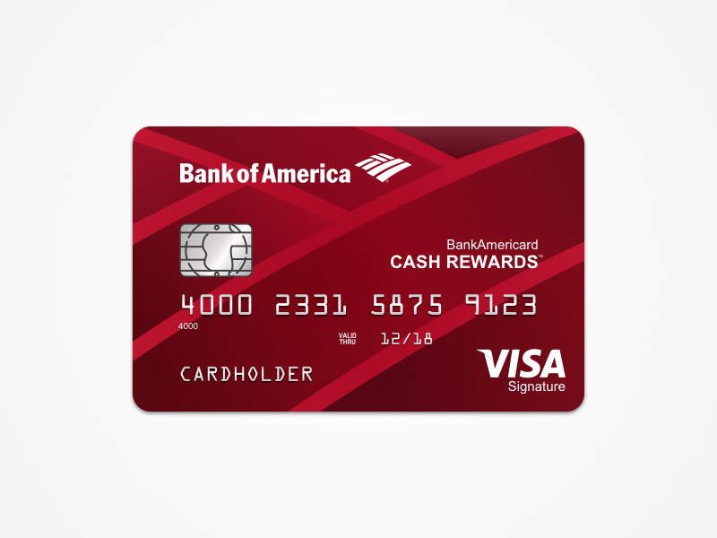 Bank Of America Cash Rewards Card Template