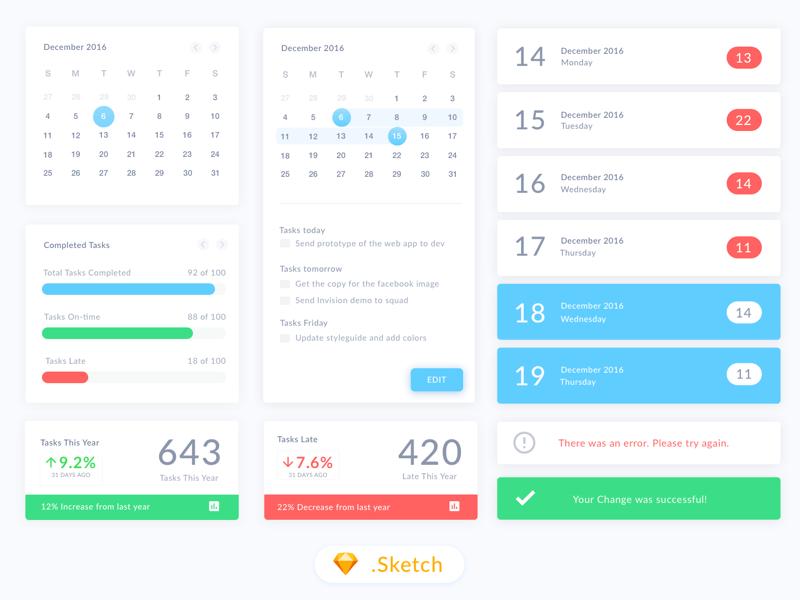 Free Shared Calendar.Calendar Ui Kit Freebie Download Sketch Resource Sketch Repo