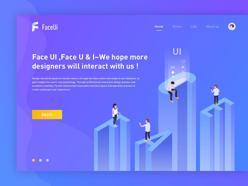 Header Team Illustration - Faceui Freebie - Download Sketch Resource