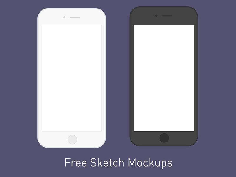 Minimal iPhone Mockups Freebie - Download Sketch Resource - Sketch Repo