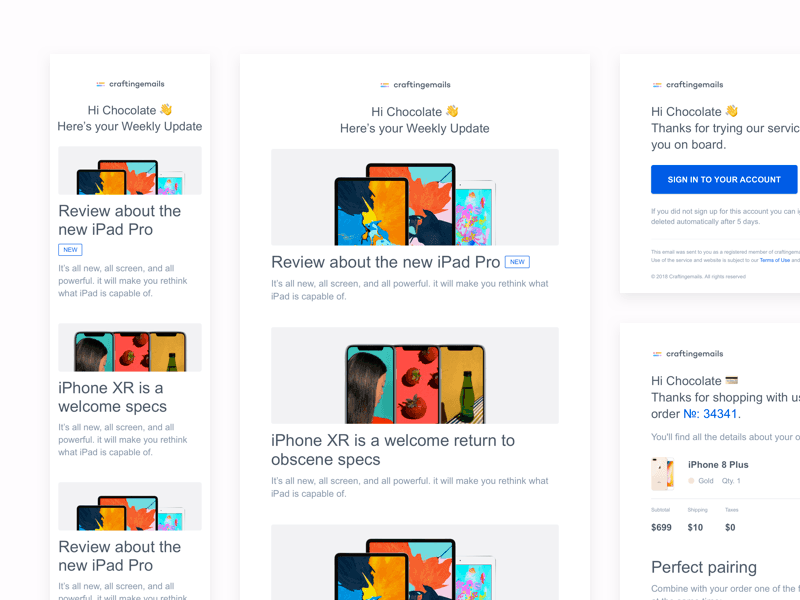 10 Email Templates for Sketch Freebie - Download Sketch Resource
