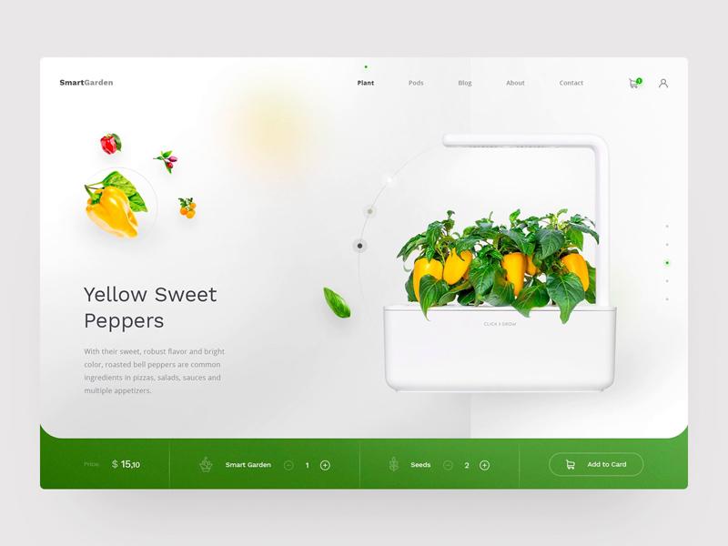 smart garden website template freebie download sketch
