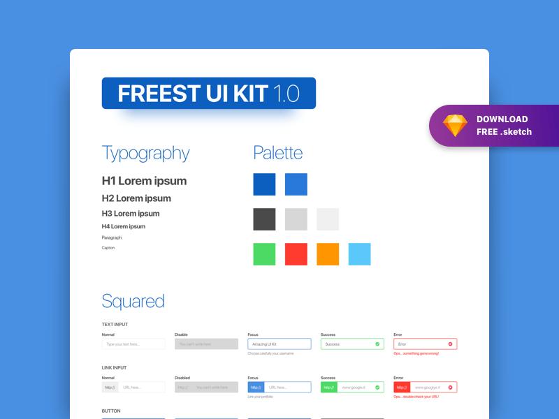 Forms UI Kit Freebie - Download Sketch Resource - Sketch Repo
