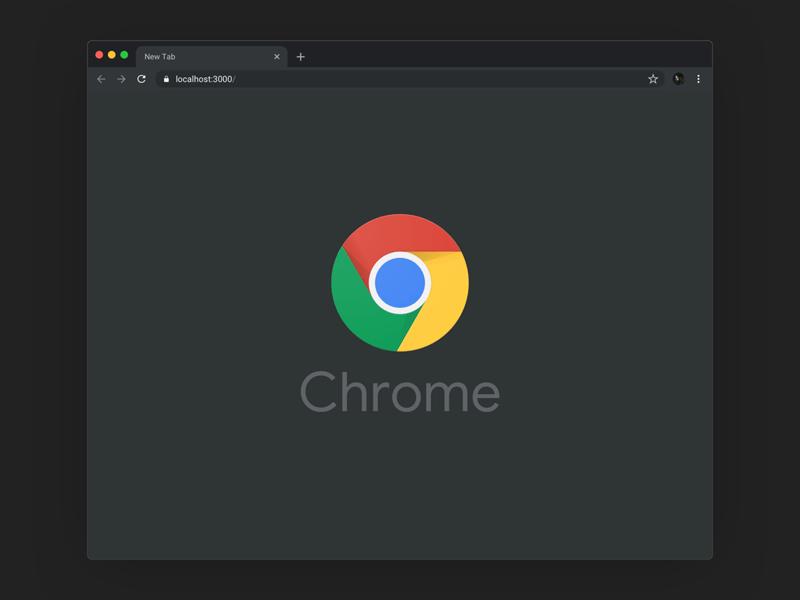 Google Chrome Dark Mode Mockup Freebie Download Sketch Resource Sketch Repo