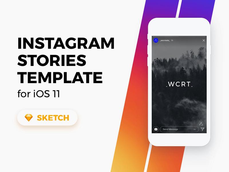 Instagram Stories Template for Sketch Freebie - Download