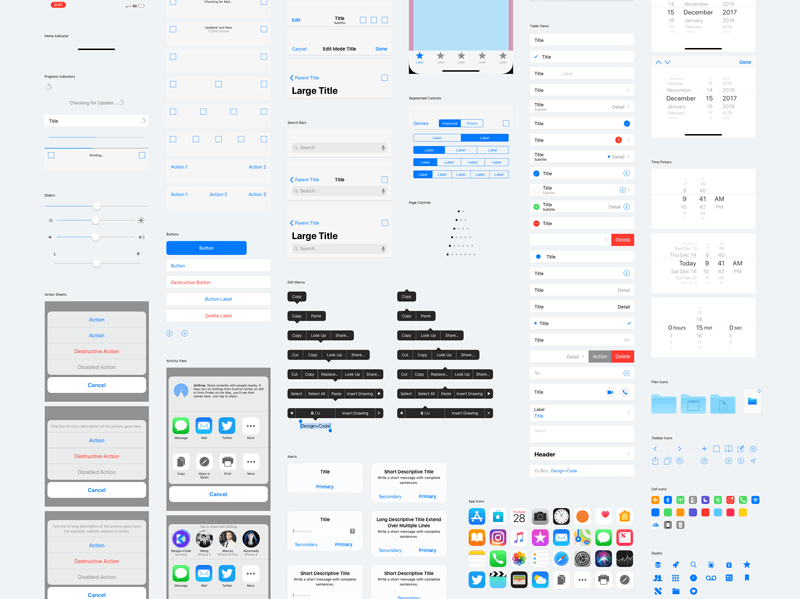 iOS 11 UI Kit for Sketch Freebie - Download Sketch Resource - Sketch
