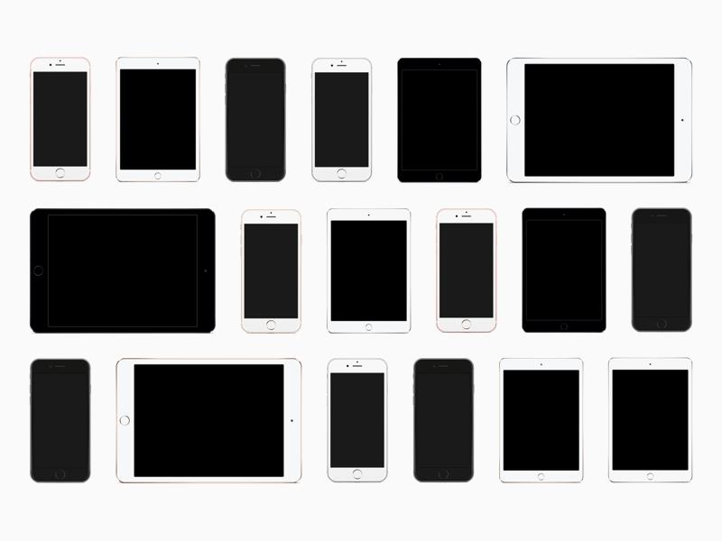 iOS Device Templates - iPhone SE & iPad Pro Freebie