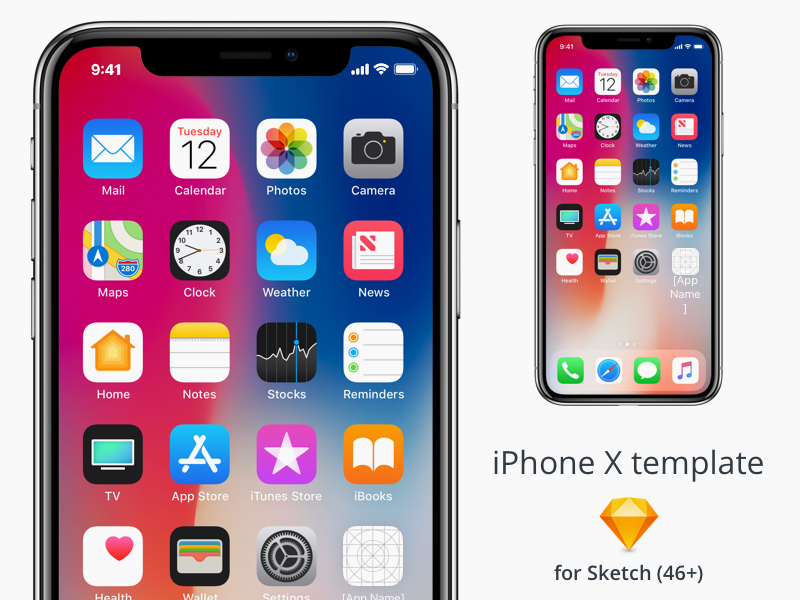 Iphone X Template For Sketch