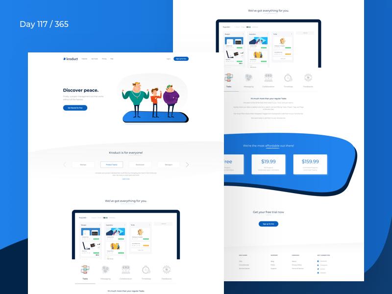 Saas Landing Page Concept Freebie Download Sketch Resource