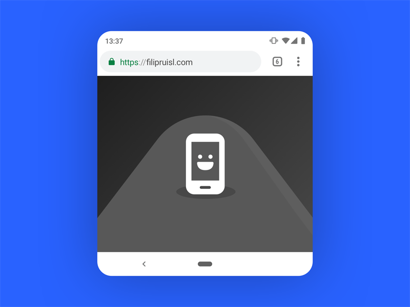 Android P Google Chrome Mockup - Material Design 2 Freebie