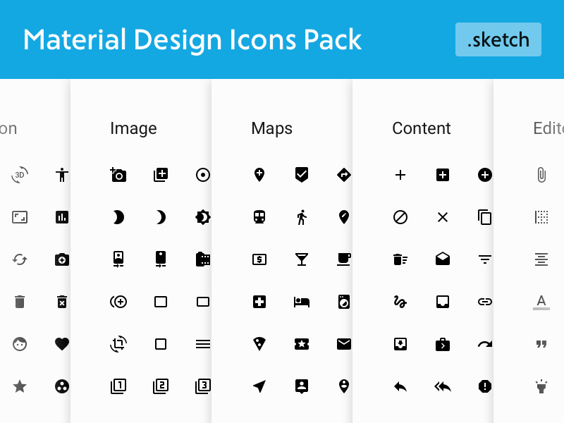 Material Design Icons Pack Freebie Download Sketch Resource Sketch Repo