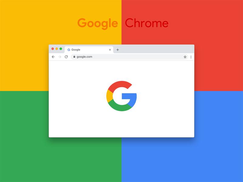 New Google Chrome 69 Browser Mockup Freebie - Download Sketch