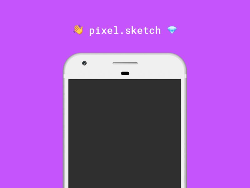 Pixel Phone Mockup for Sketch Freebie - Download Sketch