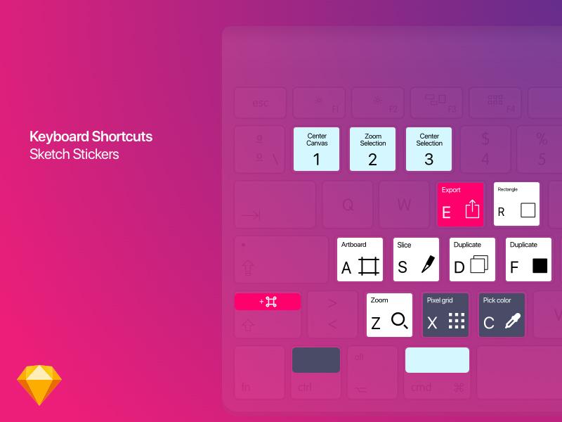 Shortcuts for Sketch - Keyboard Stickers Freebie - Download