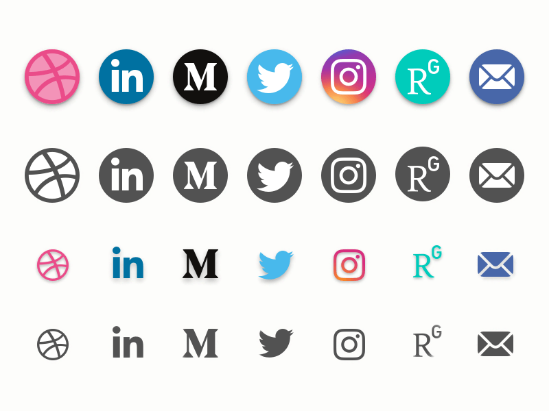Social Media Icons Set Freebie - Download Sketch Resource