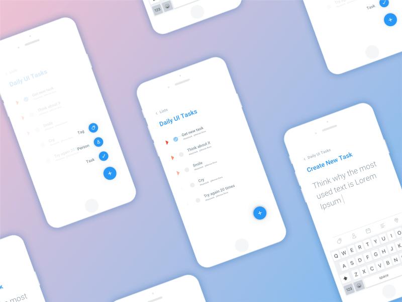 Todo List App Concept Freebie - Download Sketch Resource