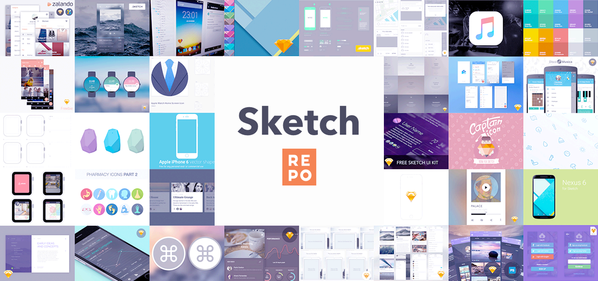 Sketch UI Kit List - Free UI Kits - Sketch Repo